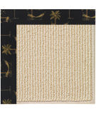 RugStudio presents Capel Zoe-Beach Sisal 108355 Jet Black Area Rug