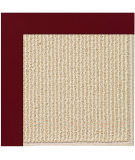 RugStudio presents Capel Zoe-Beach Sisal 108366 Wine Area Rug