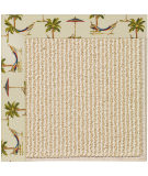 RugStudio presents Capel Zoe-Beach Sisal 108346 Beige Area Rug