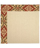 RugStudio presents Capel Zoe-Beach Sisal 62857 Terra Cotta Machine Woven, Best Quality Area Rug