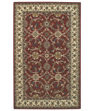 RugStudio presents Capel Kingship 62707 Crimson Lt. Beige Hand-Tufted, Good Quality Area Rug