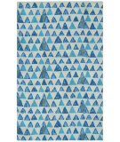RugStudio presents Capel Charisma-Pyramid 116386 Blue Hand-Tufted, Good Quality Area Rug
