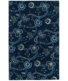 RugStudio presents Capel Sheffield 121986 Dark Blue Hand-Tufted, Good Quality Area Rug
