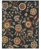 RugStudio presents Capel Charisma-Floral 116371 Ebony Hand-Tufted, Good Quality Area Rug