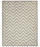 RugStudio presents Capel Charisma-Chevron 116369 Silver Hand-Tufted, Good Quality Area Rug