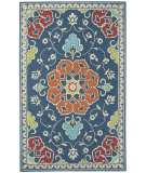 RugStudio presents Capel Burgos 121931 Dark Blue Hand-Tufted, Good Quality Area Rug