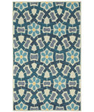 RugStudio presents Capel Stepping Stone 121988 Sand Blue Hand-Tufted, Good Quality Area Rug
