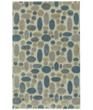 RugStudio presents Capel Shadows 121983 Cream Dusty Blue Hand-Tufted, Good Quality Area Rug