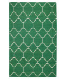 RugStudio presents Capel Serpentine 62741 Dark Green Flat-Woven Area Rug