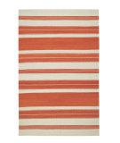 RugStudio presents Capel Jagges Stripe 62698 Sunny Flat-Woven Area Rug