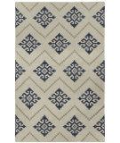 RugStudio presents Capel Flakes 67051 Blue Flat-Woven Area Rug