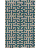 RugStudio presents Capel Grecian 80992 Blue Green Flat-Woven Area Rug