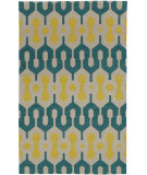 RugStudio presents Capel Spain 80972 Green Yellow Flat-Woven Area Rug