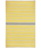 RugStudio presents Capel Barred Stripe 116252 Yellow Smoke Flat-Woven Area Rug