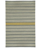 RugStudio presents Capel Barred Stripe 116253 Smoke Yellow Flat-Woven Area Rug