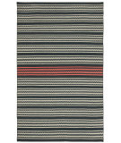 RugStudio presents Capel Barred Stripe 116254 Deep Grey Pink Flat-Woven Area Rug