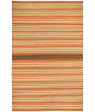 RugStudio presents Capel Barred Stripe 116256 Sunny Deep Grey Flat-Woven Area Rug