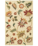RugStudio presents Capel Garden Flowers 62678 Beige Hand-Tufted, Good Quality Area Rug