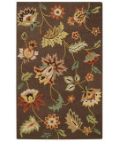 RugStudio presents Capel Garden Flowers 62679 Chocolate Hand-Tufted, Good Quality Area Rug