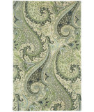 RugStudio presents Capel Boteh 116362 Leaf Green Hand-Tufted, Good Quality Area Rug