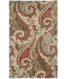 RugStudio presents Capel Boteh 116363 Raisin Hand-Tufted, Good Quality Area Rug