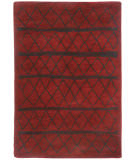 RugStudio presents Capel Nador 116442 Crimson Machine Woven, Good Quality Area Rug