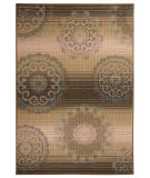 RugStudio presents Capel Portia-Medallion 116458 Amber Machine Woven, Good Quality Area Rug