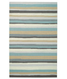 RugStudio presents Capel Intrique-Stripe 62695 Green Hand-Hooked Area Rug