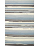 RugStudio presents Capel Intrique-Stripe 62694 Blue Hand-Hooked Area Rug