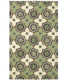 RugStudio presents Capel Intrique-Medallion 62693 Green Hand-Hooked Area Rug
