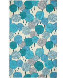 RugStudio presents Capel Stick Candy 116334 Azure Kiwi Hand-Hooked Area Rug