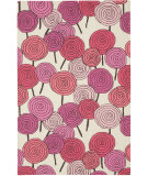 RugStudio presents Capel Stick Candy 116335 Blush Multi Hand-Hooked Area Rug