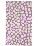 RugStudio presents Capel Heavenly 116439 Purple Hand-Hooked Area Rug