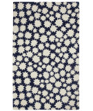 RugStudio presents Capel Heavenly 116440 Dark Blue Hand-Hooked Area Rug