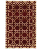 RugStudio presents Capel Lattice 525 Cranberry Flat-Woven Area Rug
