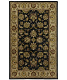 RugStudio presents Capel Orinda-Mirza 67097 Black Beige Hand-Tufted, Good Quality Area Rug