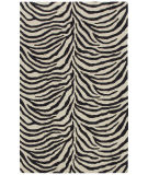 RugStudio presents Capel Expedition-Zebra 116437 Ebony Hand-Tufted, Good Quality Area Rug