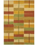 RugStudio presents Chandra Aadi AAD1307 Orange Hand-Knotted, Good Quality Area Rug