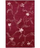 RugStudio presents Chandra Aadi AAD1350 Red Hand-Knotted, Good Quality Area Rug