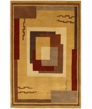 RugStudio presents Chandra Aadi AAD1301 Brown Hand-Knotted, Good Quality Area Rug