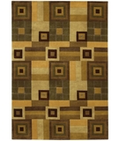 RugStudio presents Chandra Aadi AAD1305 Brown/Tan Hand-Knotted, Good Quality Area Rug