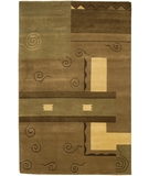RugStudio presents Chandra Aadi AAD1335 Brown Hand-Knotted, Good Quality Area Rug