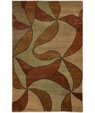 RugStudio presents Chandra Aadi AAD1340 Brown Hand-Knotted, Good Quality Area Rug