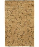 RugStudio presents Chandra Aadi AAD1343 Tan Hand-Knotted, Good Quality Area Rug