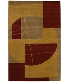 RugStudio presents Chandra Aadi AAD1351 Gold/Red Hand-Knotted, Good Quality Area Rug