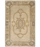 RugStudio presents Chandra Aadi AAD1407 Beige Hand-Knotted, Good Quality Area Rug