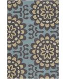 RugStudio presents Chandra Amy Butler AMY13200 Light Blue Hand-Tufted, Good Quality Area Rug