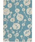RugStudio presents Chandra Amy Butler AMY13204 Light Blue Hand-Tufted, Good Quality Area Rug