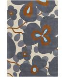 RugStudio presents Chandra Amy Butler AMY13212 Charcoal Hand-Tufted, Good Quality Area Rug