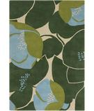 RugStudio presents Chandra Amy Butler AMY13214 Dark Green Hand-Tufted, Good Quality Area Rug
